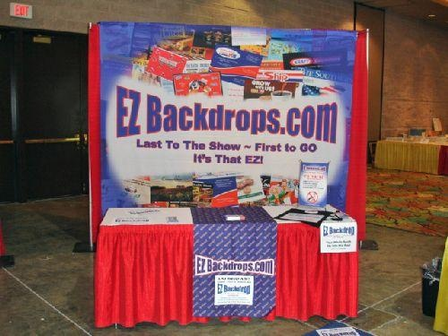 EZ Backdrops specializes in helping companies with trade show booth and ideas for portable trade show displays that stand out. If you are looking for trade show booth ideas or trade show display ideas, look no further.  Our trade show backdrops and trade show table covers are made of the highest quality. #madeintheusa #tradeshows