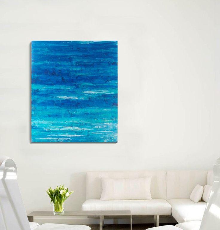 Абстрактная живопись в интерьере. Акрил. Холст на подрамнике 100 х 80 см.