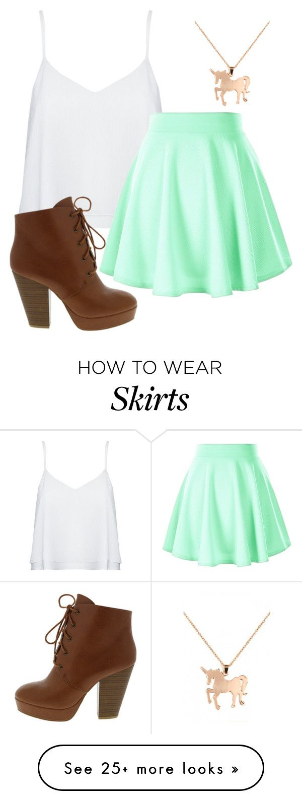 """Skater skirts are the bæ"" by emi-elephant on Polyvore featuring Alice + Olivia, Louche, women's clothing, women's fashion, women, female, woman, misses, juniors and Summer"