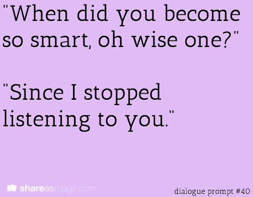 Writing prompt: #dialogue prompt #40
