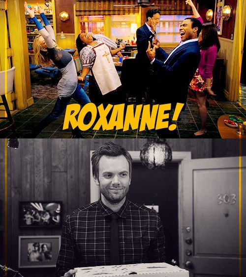 Community, Roxanne!  This is the episode when Community redeemed itself this season! So awesome!