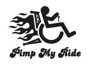 Wheelchair meme pimp my ride