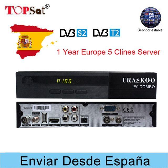 Fraskoo F9 Satellite Receiver Dvb S2 S Dvb T2 T Usb Wifi 1080p Hd Support Europe Clines For 1 Year Spain Iptv Powervu Biss Key Review Satellite Receiver Dvb T2 Usb