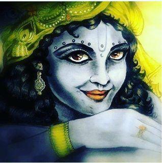 Krishna-Kanhaiya-Kanha Photos: Awesome Painting of Lord Krishna without Bansuri