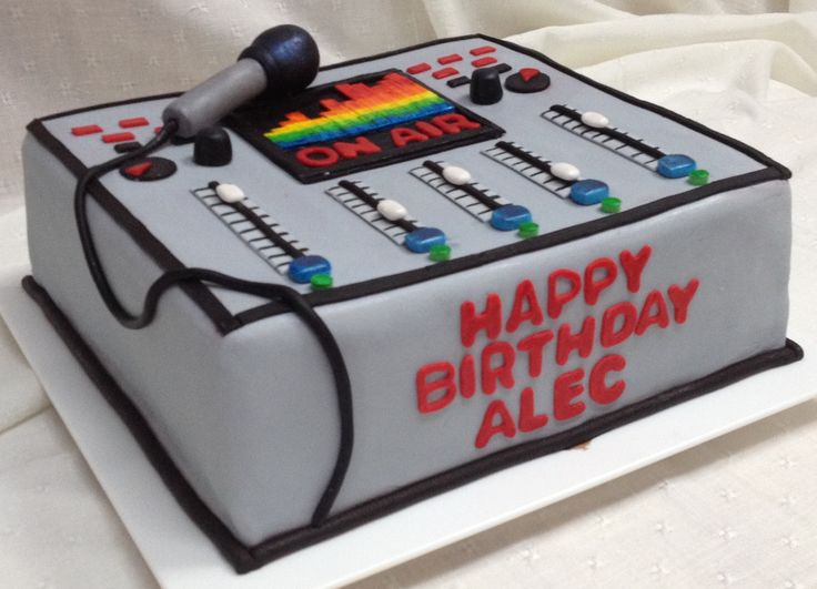 Broadcasting Board Cake for my son's 23rd birthday 23rd