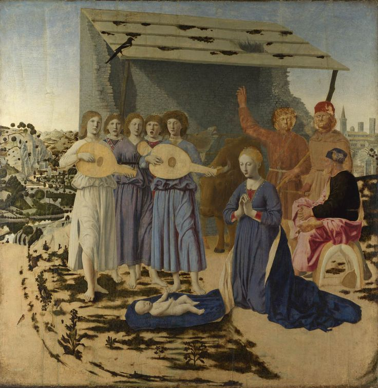 Piero della Francesca (1419-1492) ~ Nativity (detail) ~ 1470-75 ~ Oil on poplar panel ~ National Gallery, London
