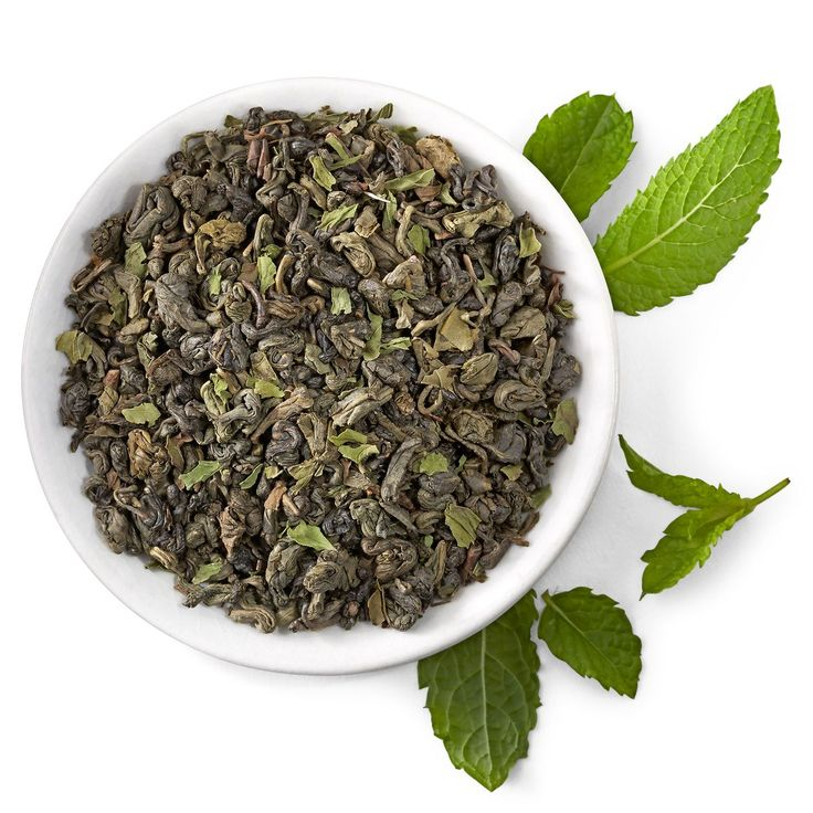 Robust green tea with refreshing spearmint.