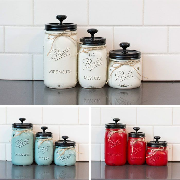 25 best ideas about bathroom canisters on pinterest for Kitchen jar decoration