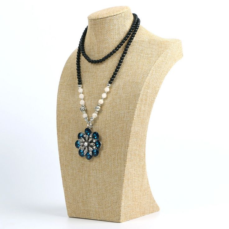 Превосходное белье M размер 29 см высокой ожерелье дисплей модели ожерелье показаны подставки ювелирные изделия держатель манекен витрина купить на AliExpress
