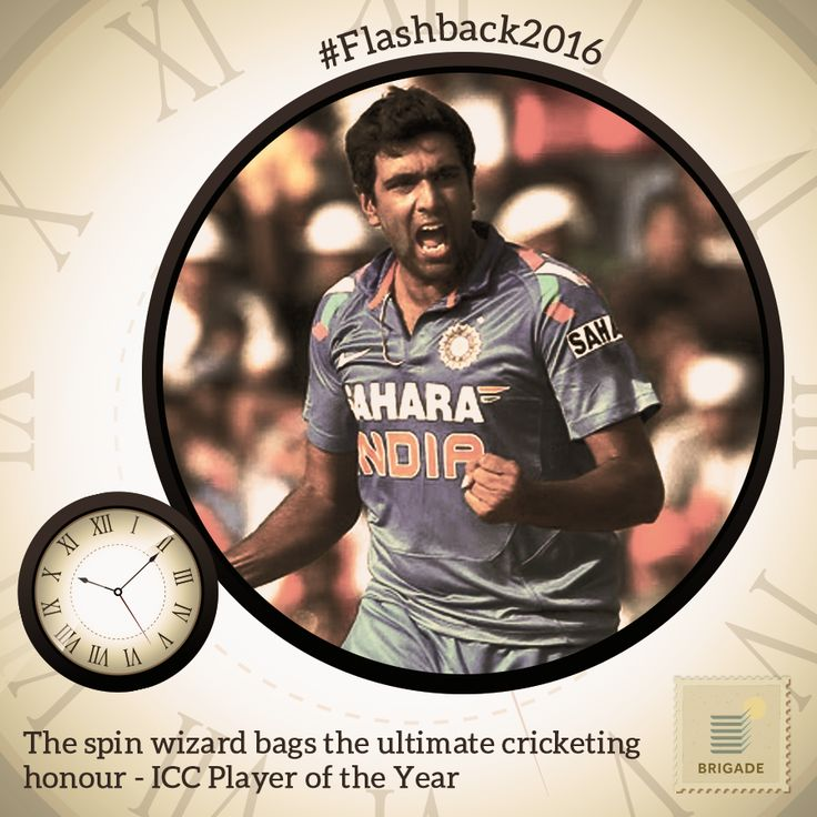 #Indian #spinner Ravichandran Ashwin was named the #ICC Player of the Year and the ICC Test Player of the Year.