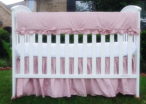 Ballet Slipper Pink Crib Rail Guard with Crib skirt, Linen crib rail guard,  rail - 25+ Best Rail Guard Ideas On Pinterest Crib Rail Guard, Crib