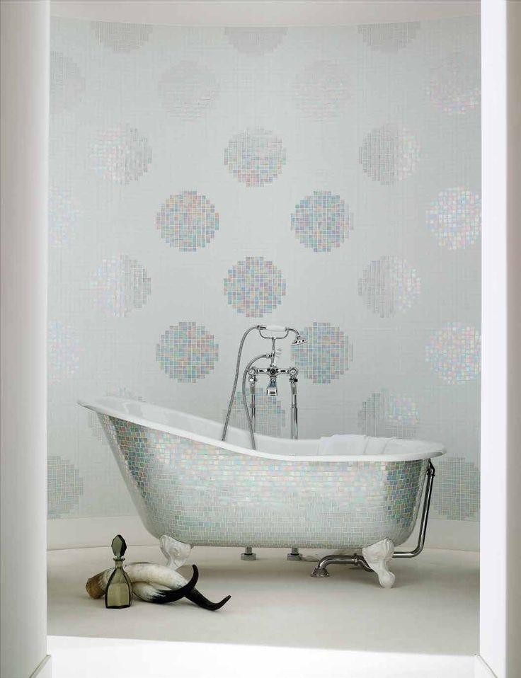 #Bisazza #Decori 2x2 cm Pois Bianchi   #Gres   su #casaebagno.it a 449 Euro/collo   #mosaico #bagno #cucina