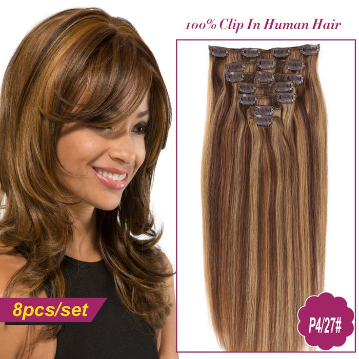 Clip In Hair Extensions 8pc Set Natural Human Sale For Fashionclip