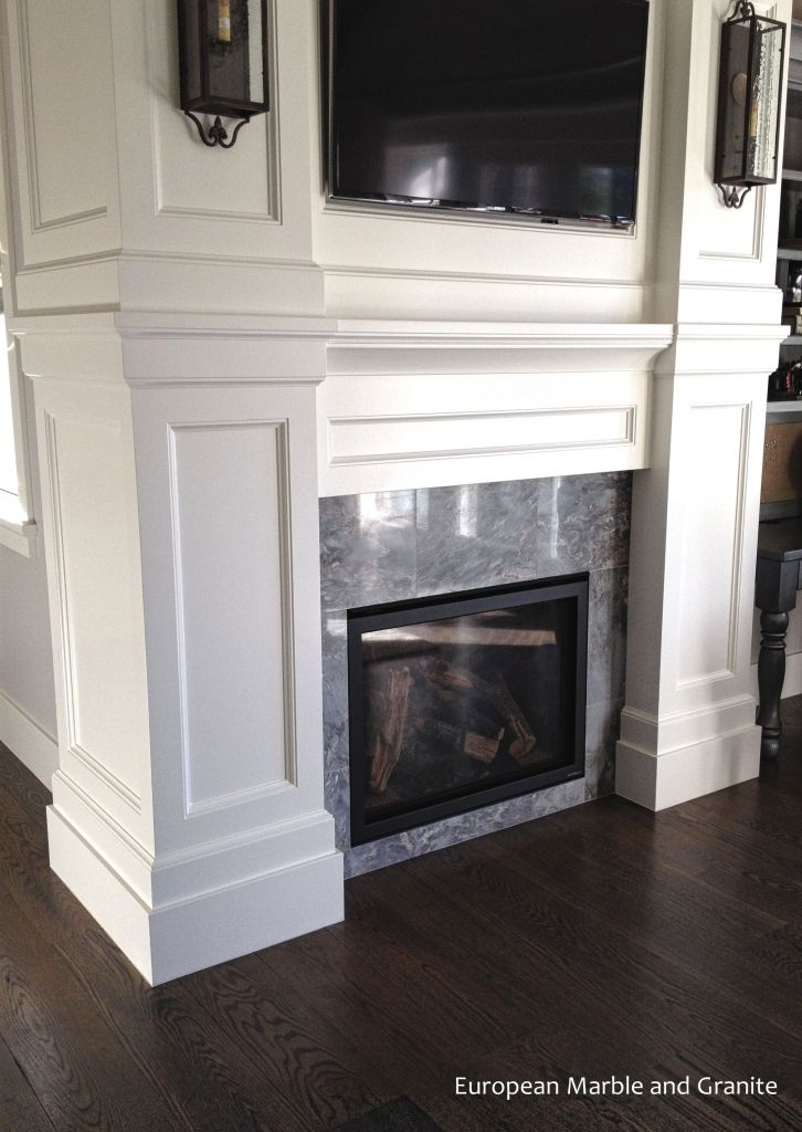 Palisandro Bluette Marble Fireplace Installed By European And Granite In Salt Lake City