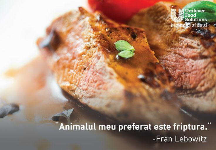 Animalul meu preferat este friptura. - Fran Lebowitz