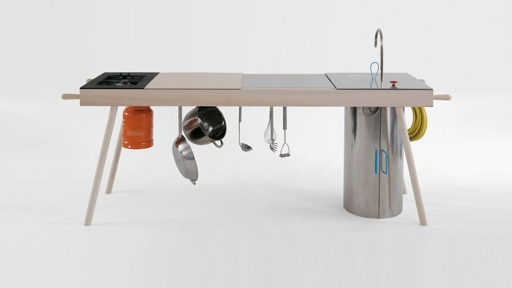 A Mobile Kitchen That Works Outside And Inside