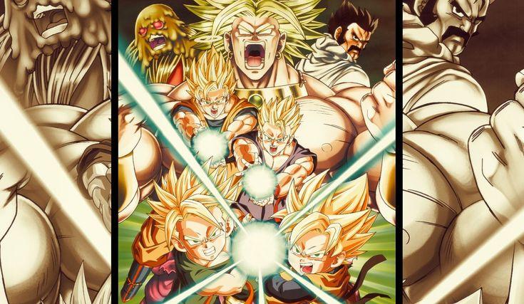 Anime Dragon Ball Z  Broly (Dragon Ball) Satan (Dragon Ball Z) Trunk (Dragon Ball) Goten (Dragon Ball) Gohan (Dragon Ball) Goku Fondo de Pantalla