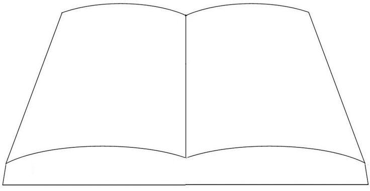 Open book template - (just because....) | kaartpatronen ...