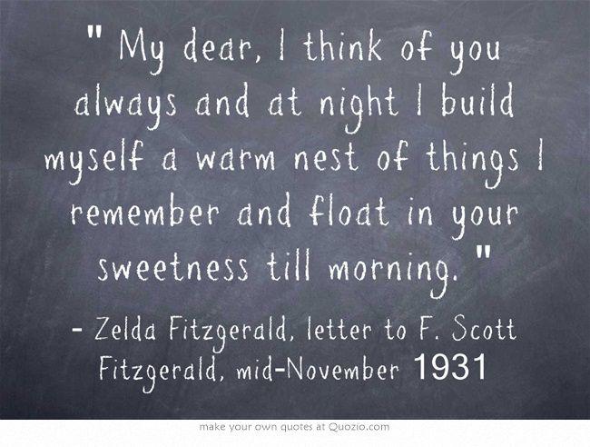 Zelda Fitzgerald, letter to F. Scott Fitzgerald, mid-November 1931