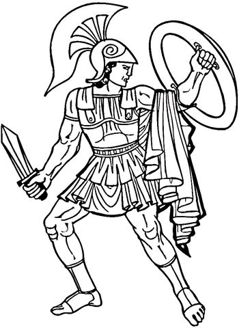 Greek Warrior coloring page from Greece category. Select