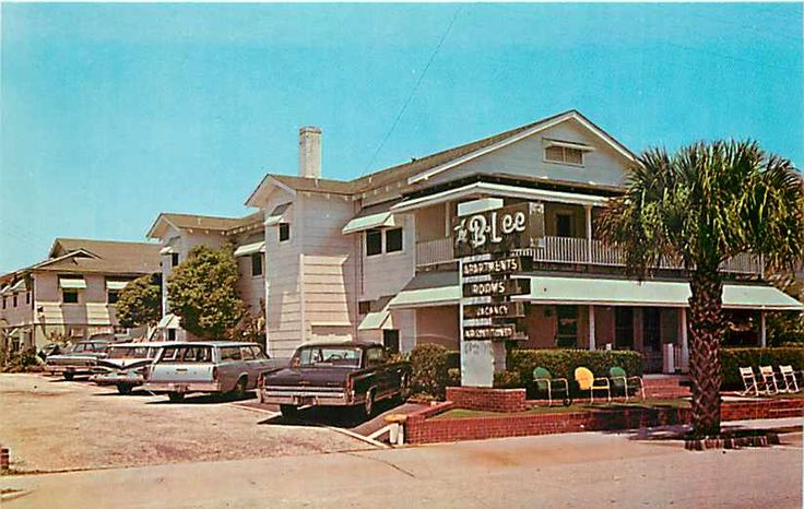 Old Pictures of Myrtle Beach SC | Details about SC, Myrtle Beach, South Carolina, B-Lee Motel, 60s Cars ...