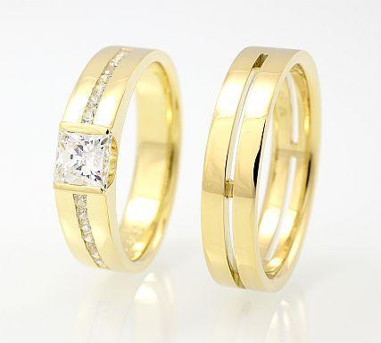 Snubní prsteny z Příbrami | Zlatnický ateliér a zlatnictví Brilance