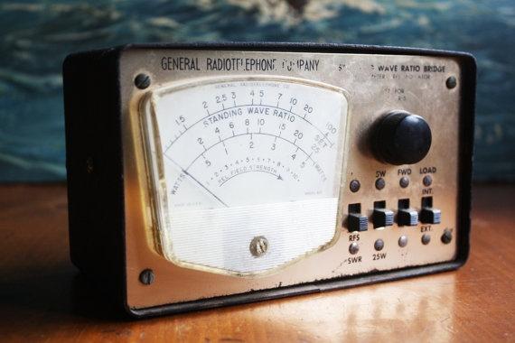 General Radiotelephone Standing Wave Ratio Bridge CB. $50.00, via Etsy.