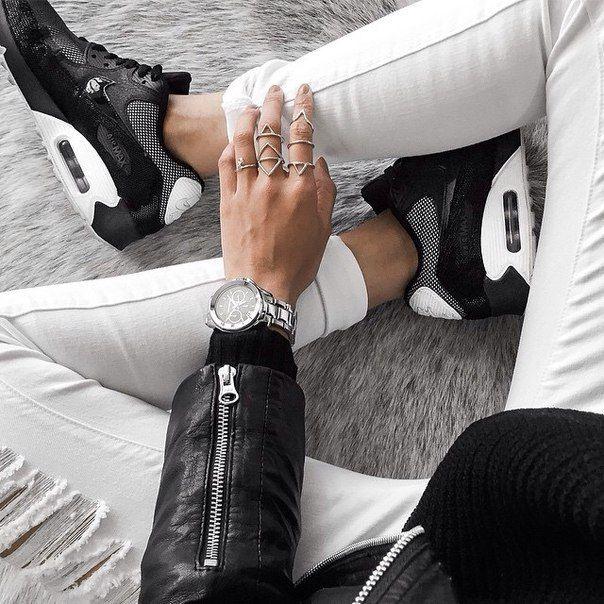 аксессуары, аксессуар, Air Max, шикарно, джинсовые вещи, мода, джинсы, лук, Nike, кольца, рваные джинсы, стиль, смотреть
