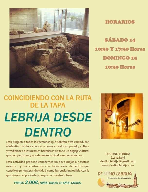 Coincidiendo con la ruta de la tapa...Lebrija Desde Dentro !!