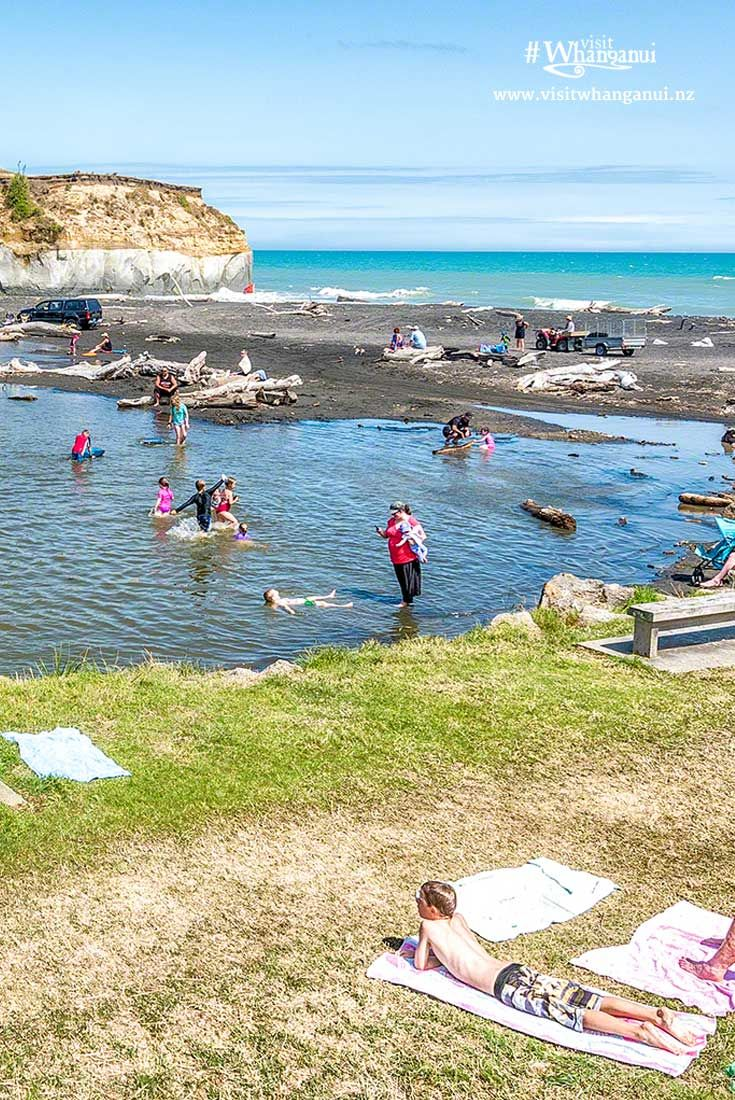 A shimmering, black sand beach for the whole family and all ocean activities, Kai Iwi Beach is located 14kms west of Whanganui, New Zealand. via @visitwhanganui