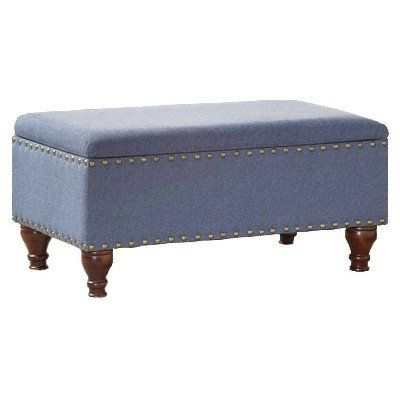 Upholstered Storage Bench - 3 Colors