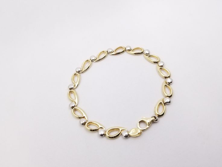 9 kt Yellow and White Gold Bracelet