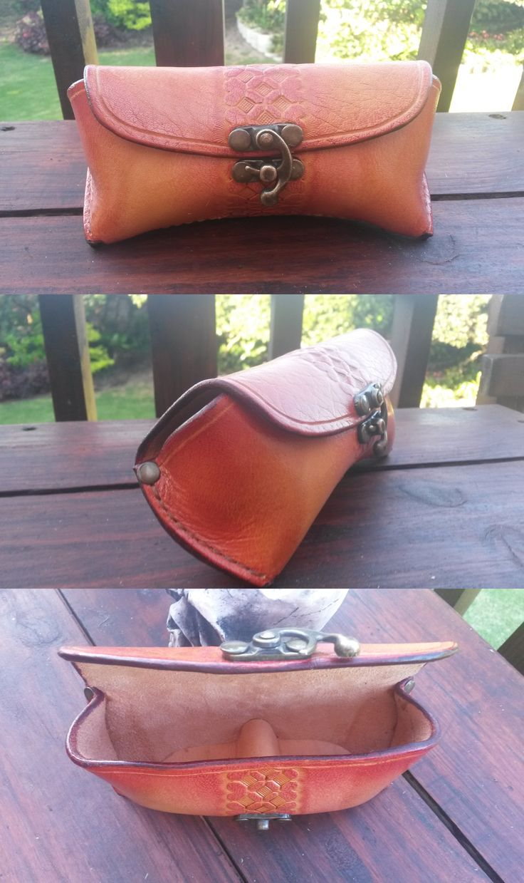 Tooled Leather Sunglasses Case