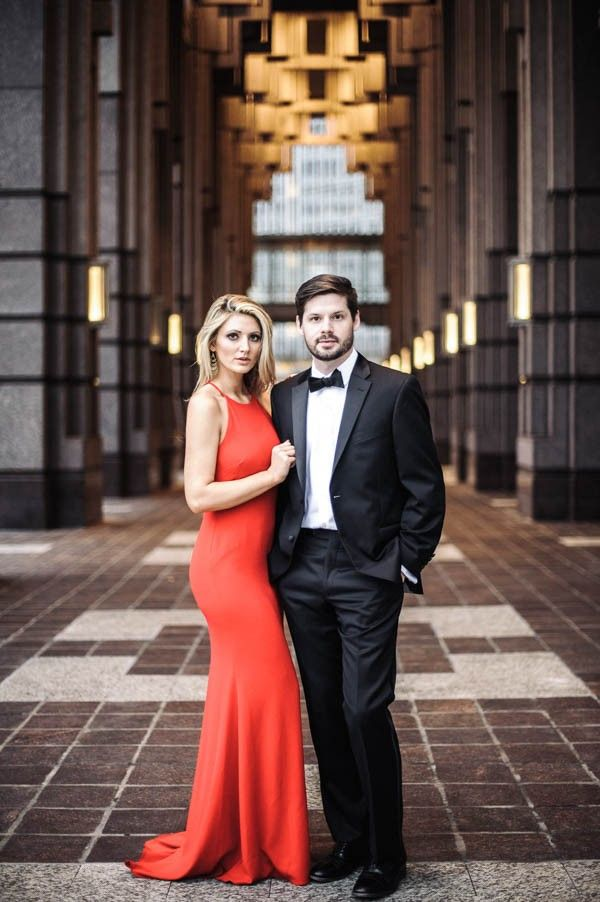 Strikingly Elegant Midtown Atlanta Engagement Session by  Still55 Photography