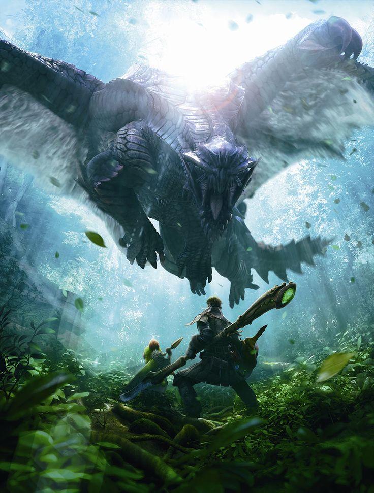 Hunter & Felyne vs Gore Magala - Monster Hunter 4