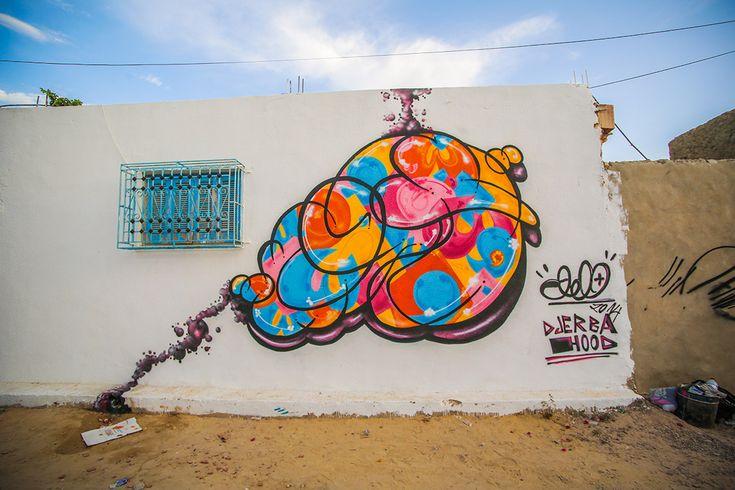Vajo (Tunisia) #streetart #erriadh #djerba #tunisia #spray