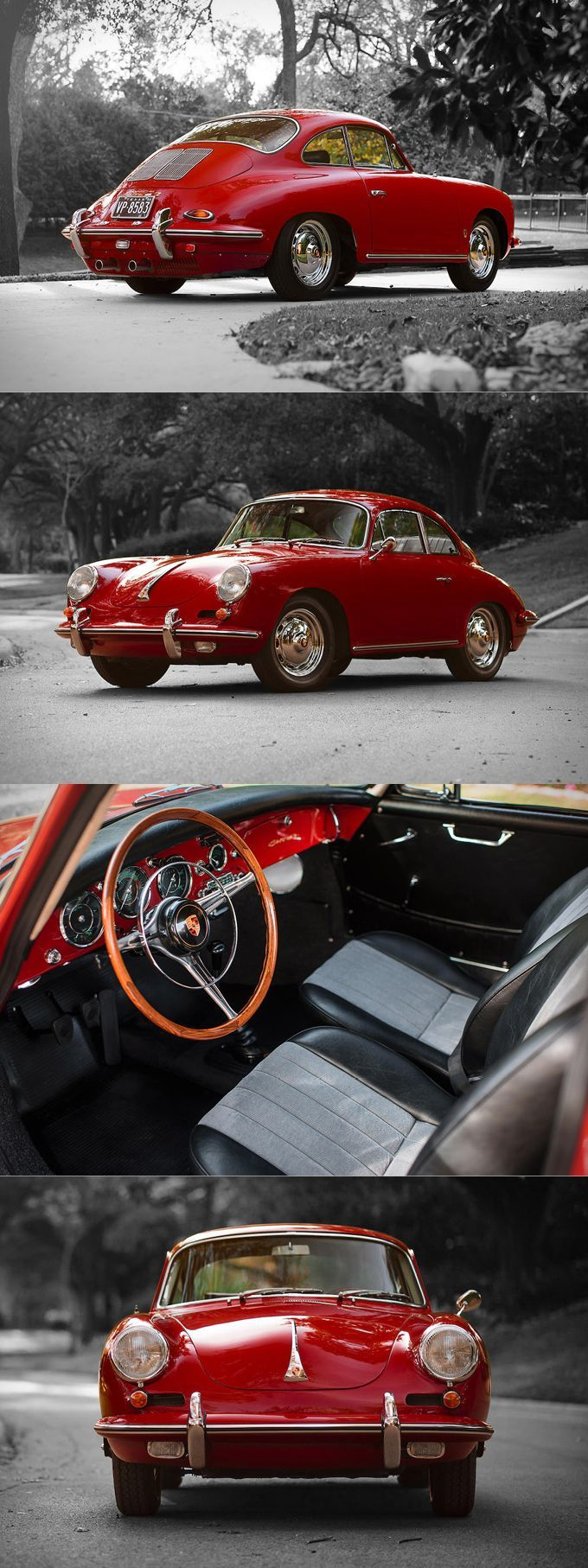 1962 porsche 356 carrera 2 310 produced 130hp 2 0l f4 red