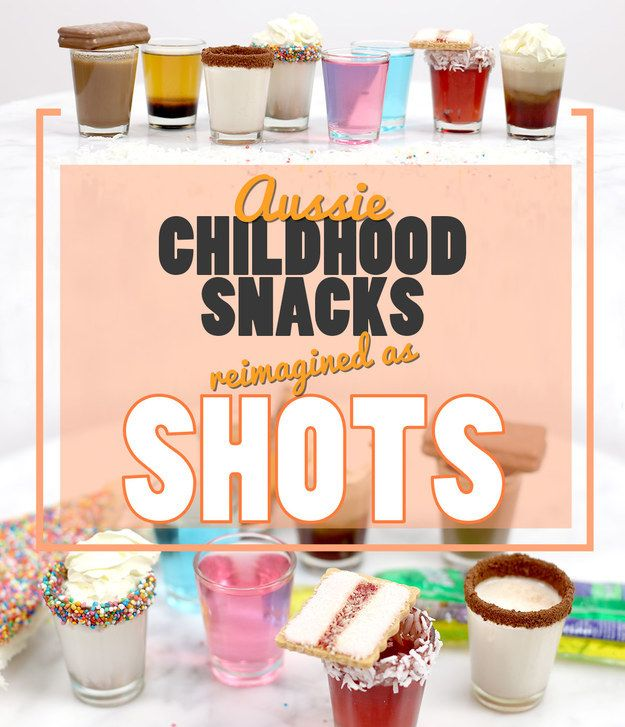 7 Aussie Childhood Snacks Reimagined As Shots