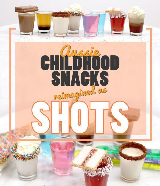 7 Aussie Childhood Snacks Reimagined As Shots