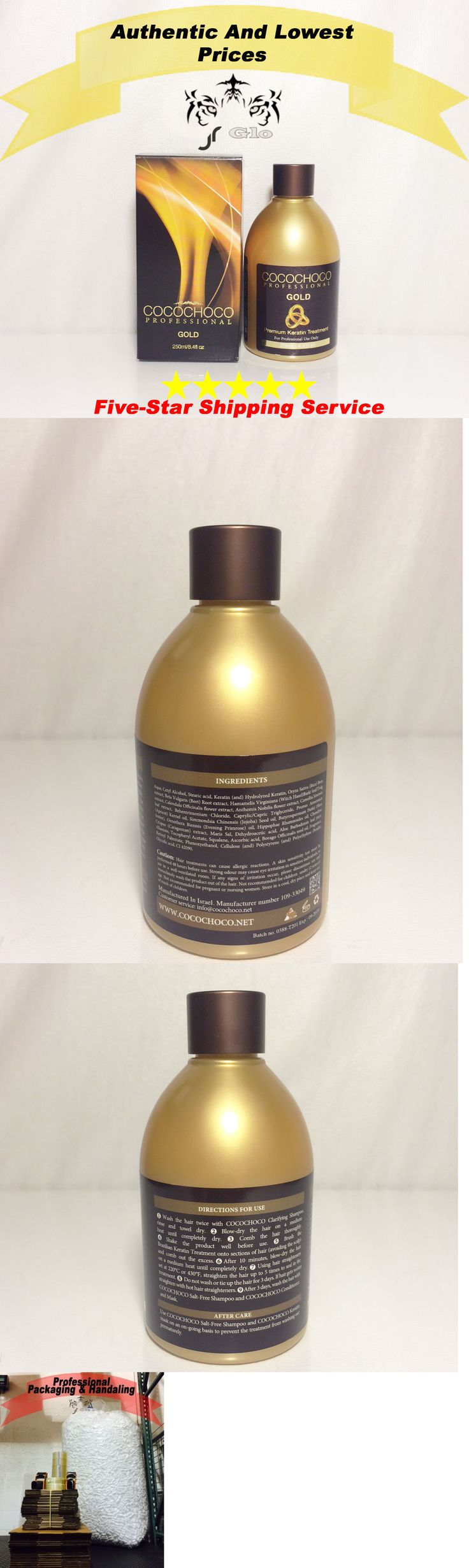 Relaxers and Straightening Prod: Cocochoco Brazilian Blow Dry New Line Gold Premium Keratin 8.4 Oz / 250 Ml BUY IT NOW ONLY: $36.0
