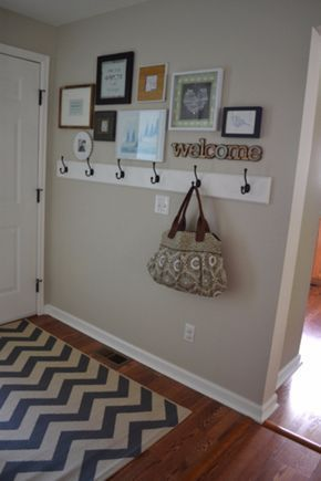 DIY Ideas for Your Entry - Frame Gallery In The Entryway - Cool and Creative Home Decor or Entryway and Hall. Modern, Rustic and Classic Decor on a Budget. Impress House Guests and Fall in Love With These DIY Furniture and Wall Art Ideas http://diyjoy.com/diy-home-decor-entry