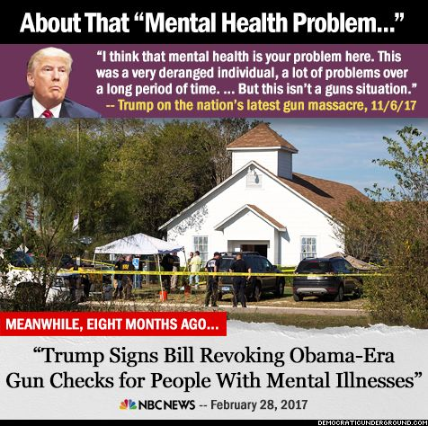 There is someone else here with 'mental health problems' and he need to be removed from office BEFORE he gets us in a whole lot of hurt!