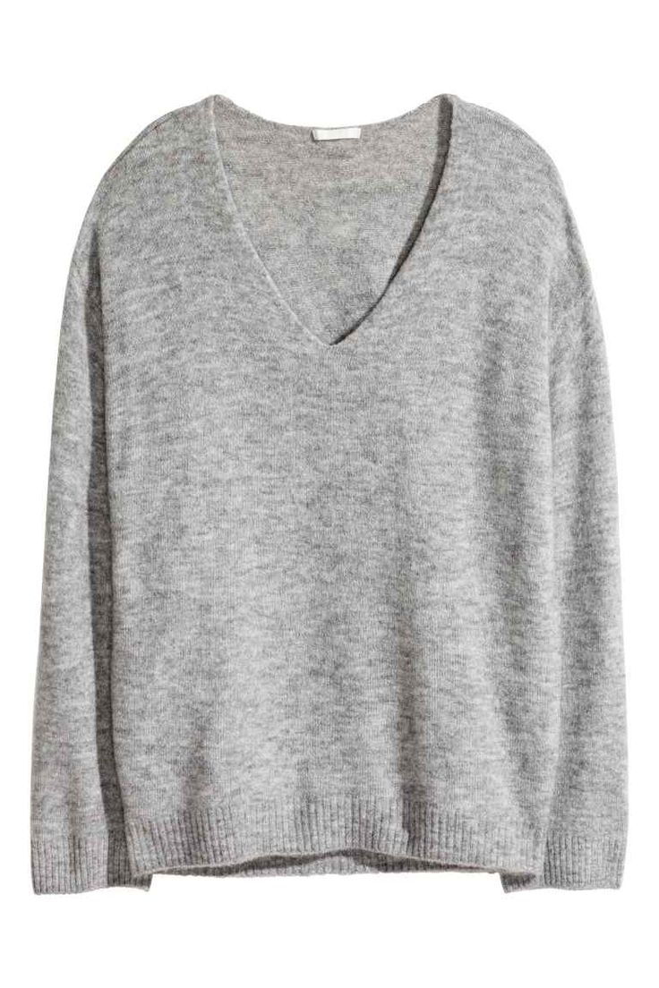 Camisola em malha fina - Cinzento mesclado - SENHORA | H&M PT