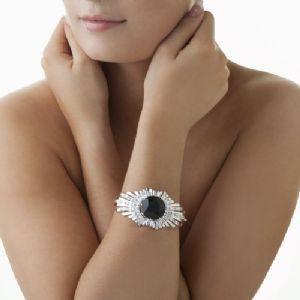 Newbridge Silverware Greta Garbo Bracelet Black Stone