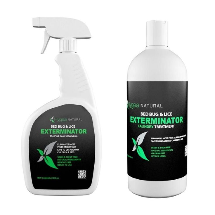 Bed Bug Exterminator Combo Pack with 24 oz. Spray and 32 oz. Laundry Treatment