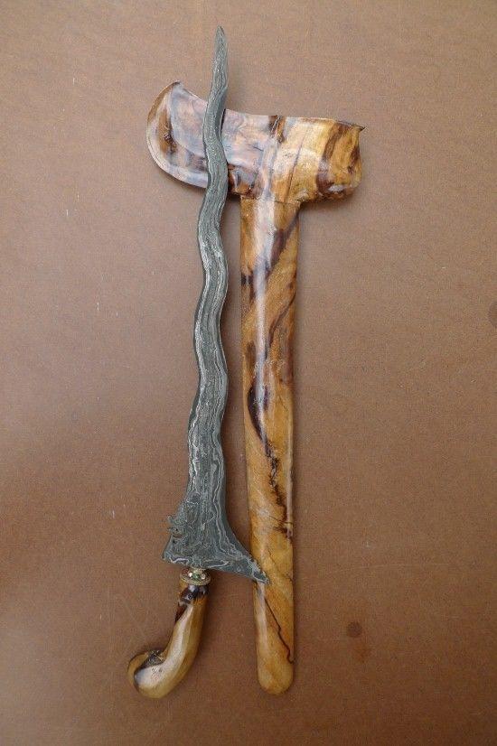 NAGA NOGO 510mm KERIS JAVA Weapon Knife Blade Dagger Sword Kris Kriss Sumatra #4