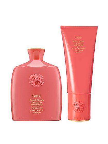 Platinum Blonde Hair Care - Oribe Bright Blonde Shampoo and Conditioner | allure.com
