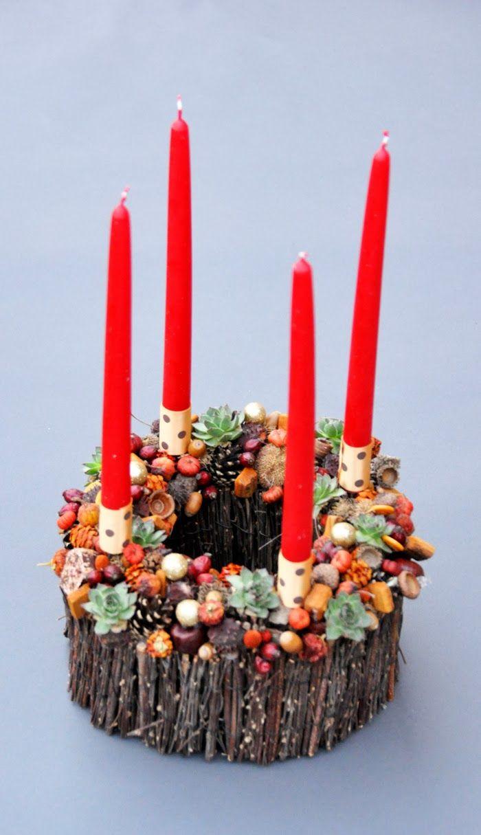 Adventi k rs ta botanic home pom z adventi for Advent candle decoration