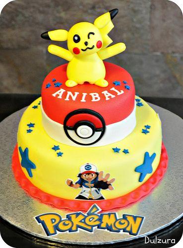 Tarta fondant Pokemon