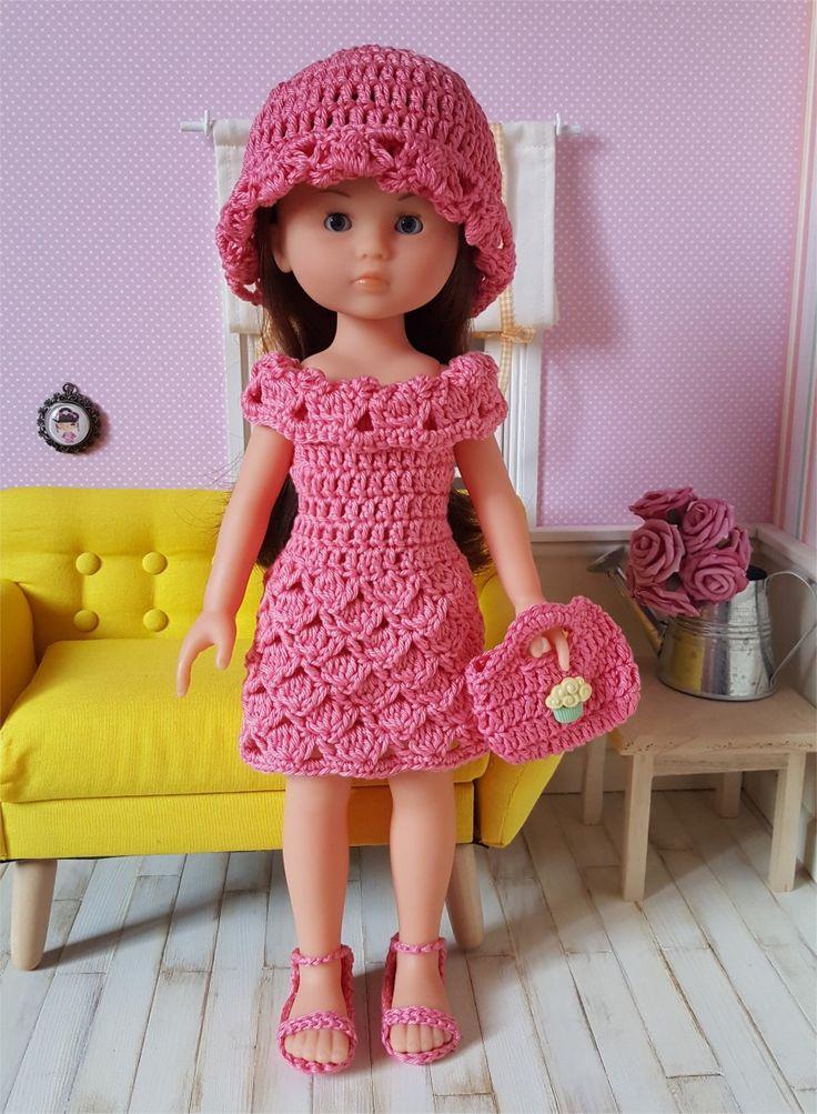 126- FICHE PATRON CROCHET Ensemble Natacha pour poupée Chérie de Corolle ou Paola Reina : Jeux, jouets par atelier-crochet